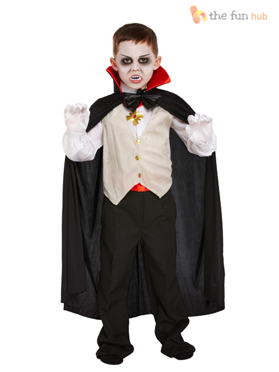 boys vampire costume kids halloween dracula fancy dress outfit