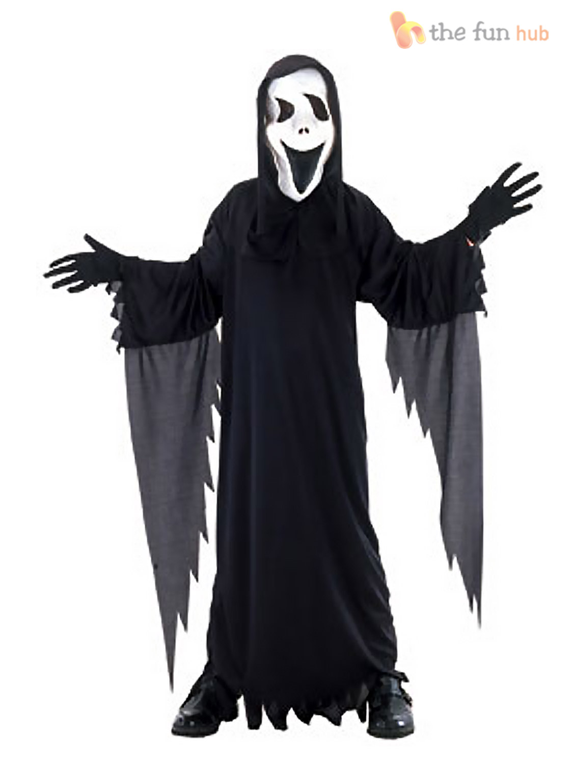 Boys Howling Scream Ghost Costume Childrens Halloween Party Fancy ...