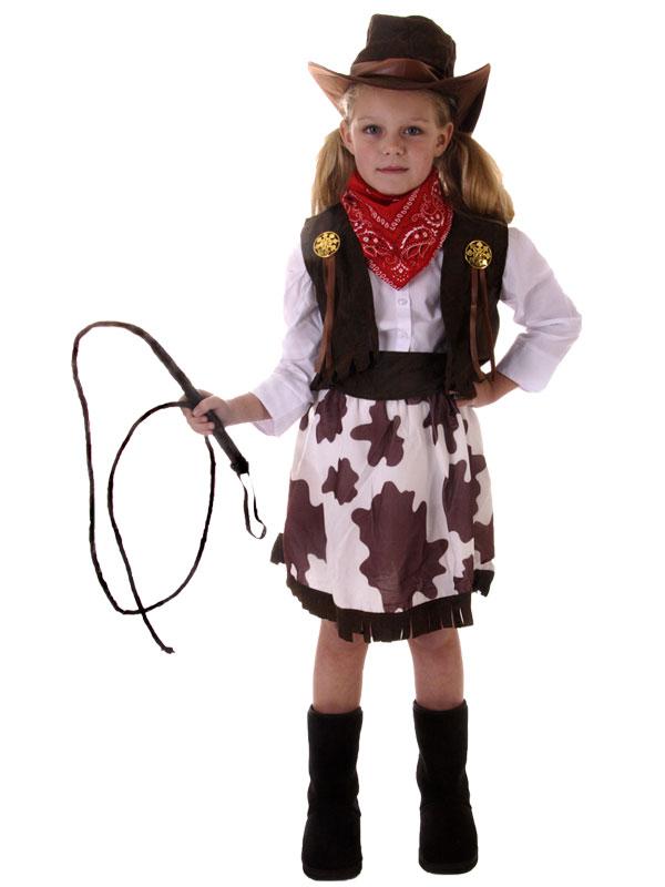 Girls-Cowgirl-Cowboy-Western-Rodeo-Fancy-Dress-Costume-  sc 1 st  eBay & Girls Cowgirl Cowboy Western Rodeo Fancy Dress Costume+ Hat Book ...