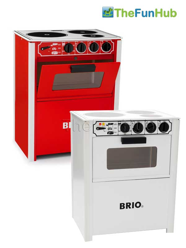 BRIO CLASSIC WOODEN PLAY STOVE COOKER KITCHEN TOY FOR TODDLERS IN ...