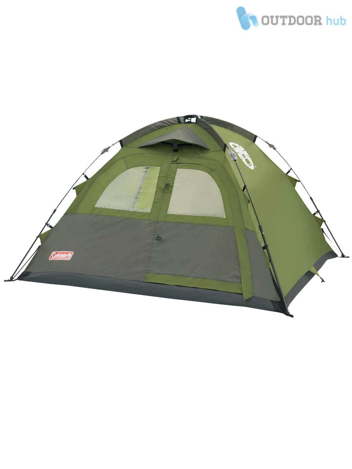 coleman instant tent dome 3 man person pop up quick pitch camping family holiday ebay. Black Bedroom Furniture Sets. Home Design Ideas