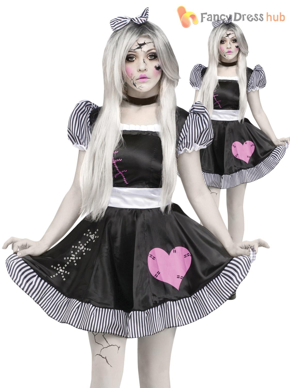 femmes halloween cass poup e de chiffon costume d guisement zombie fant me pour femme tenue ebay. Black Bedroom Furniture Sets. Home Design Ideas