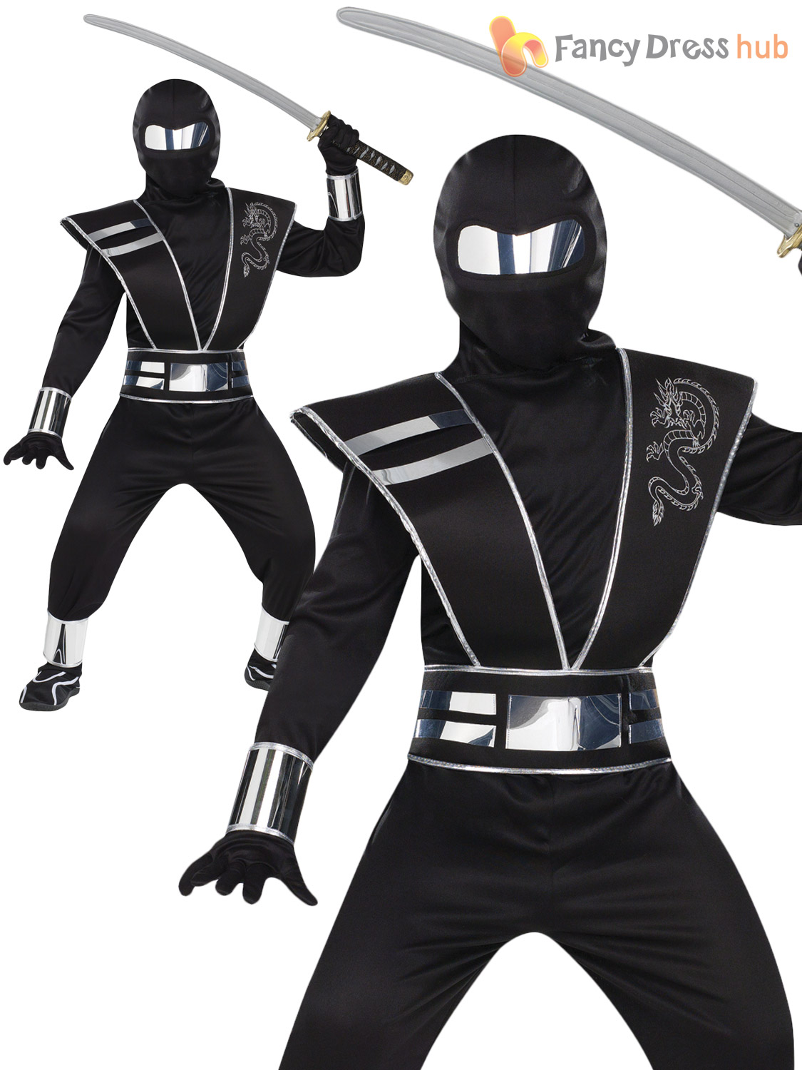 Boys Ninja Halloween Costumes. Your little ninja will be staying out of sight on Halloween night when he practices all his ninja moves! Let your little boy dress up in a boy's ninja Halloween costume and take on the streets in as a stealthy character!