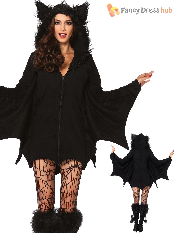 d93c58193d2cc Size 8-22 Ladies Sexy Leg Avenue Halloween Costume Cozy Bat Fancy ...