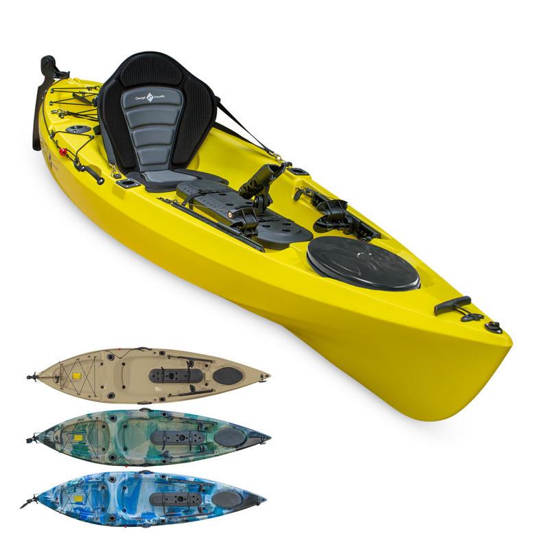Concept angler explore 10 sit on top kayak all kayak for Sit on top fishing kayaks