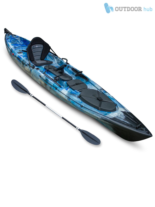 Sit on top kayak single fishing angler canoe rod holder for Sit on fishing kayak
