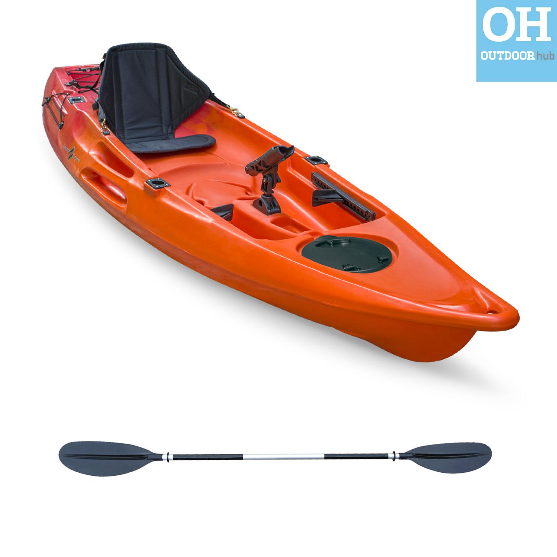10ft single kayak sit on top fishing canoe plus 1 seat for Sit on fishing kayak