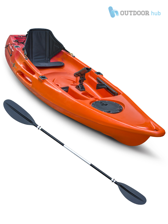 10ft sit on top kayak single fishing canoe rod holders for Best fishing canoe