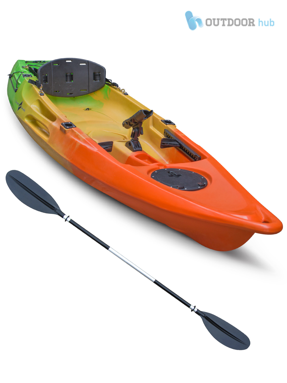 10ft sit on top kayak single fishing canoe fully featured for Best fishing canoe
