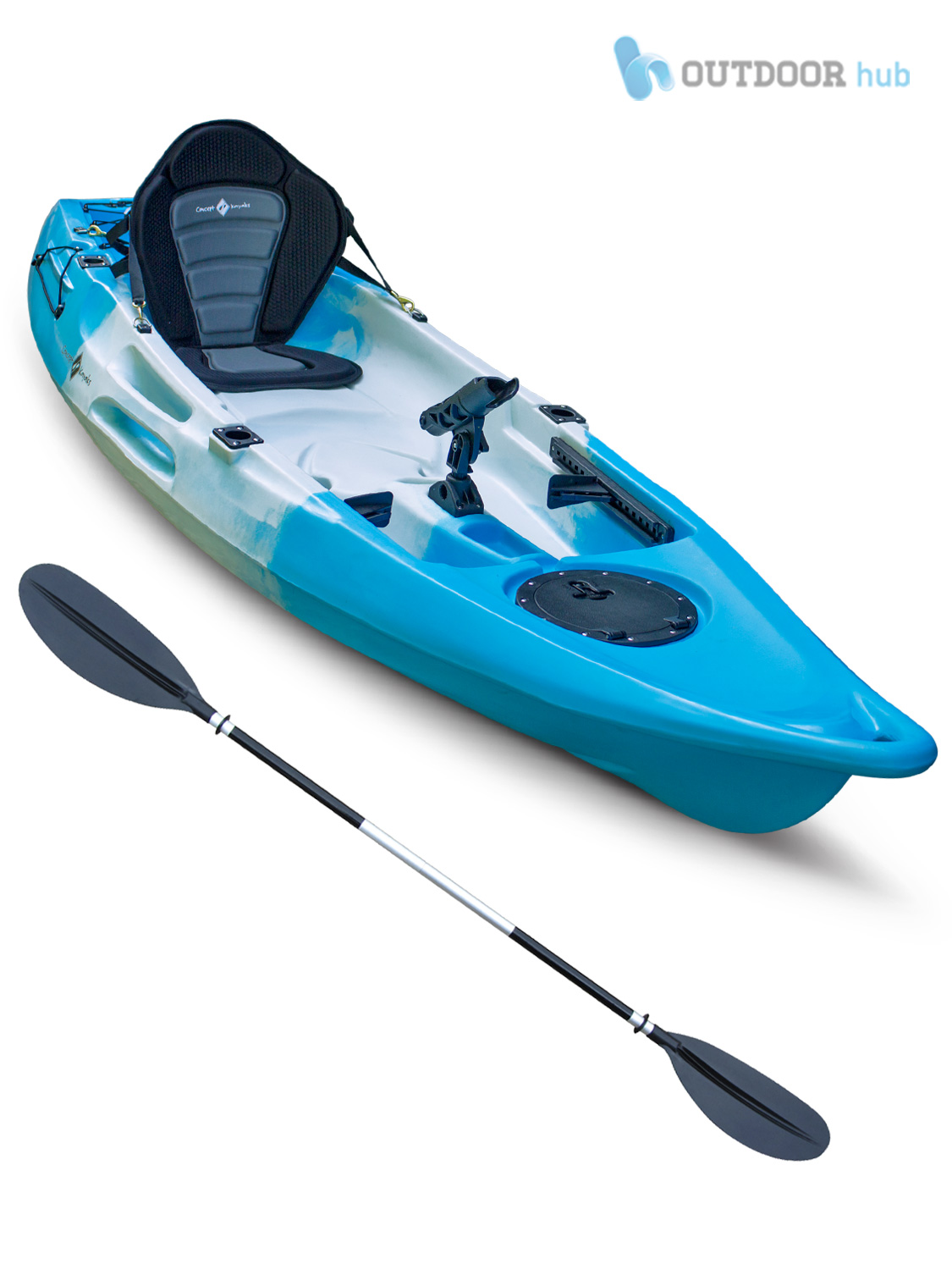 Sit on top kayak single fishing canoe concept glide 1 1 for Sit on vs sit in kayak for fishing