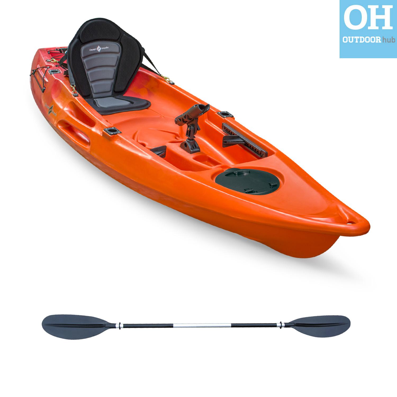 10ft Single Kayak Sit on Top Fishing Canoe Plus 1 Seat ...