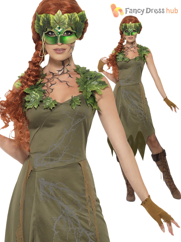 Ladies Forest Nymph Pixie Fairy Nature Green Ivy Womens  sc 1 st  Meningrey & Nature Fairy Costume - Meningrey