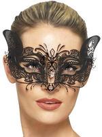 Ladies Venetian Metal Filigree Mask