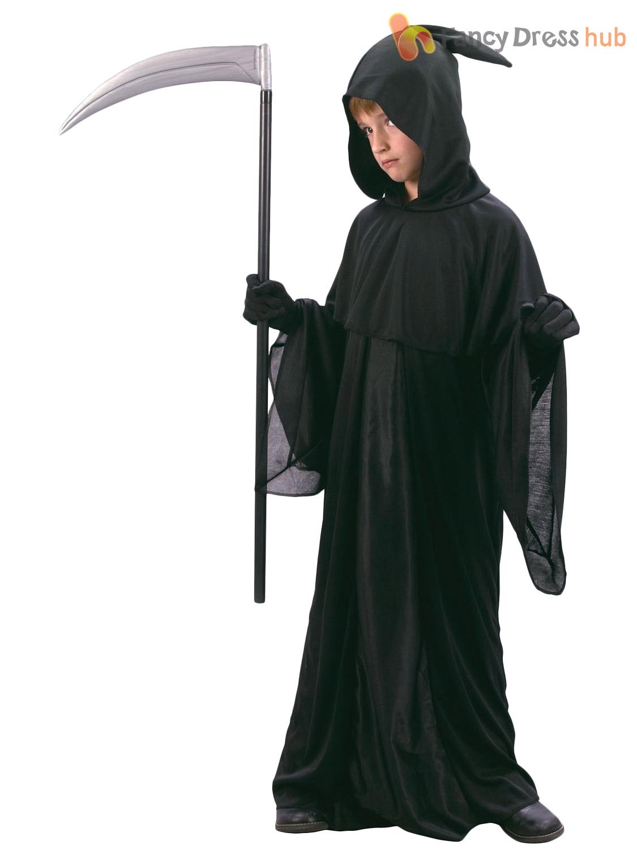 boys grim reaper costume kids halloween fancy dress - Halloween Costume Death