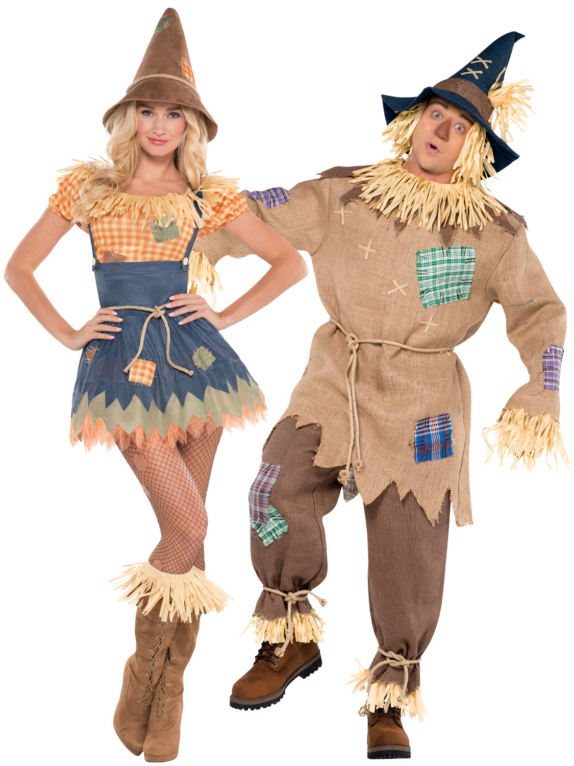 Mens Ladies Scarecrow Costume Book Week Day Character