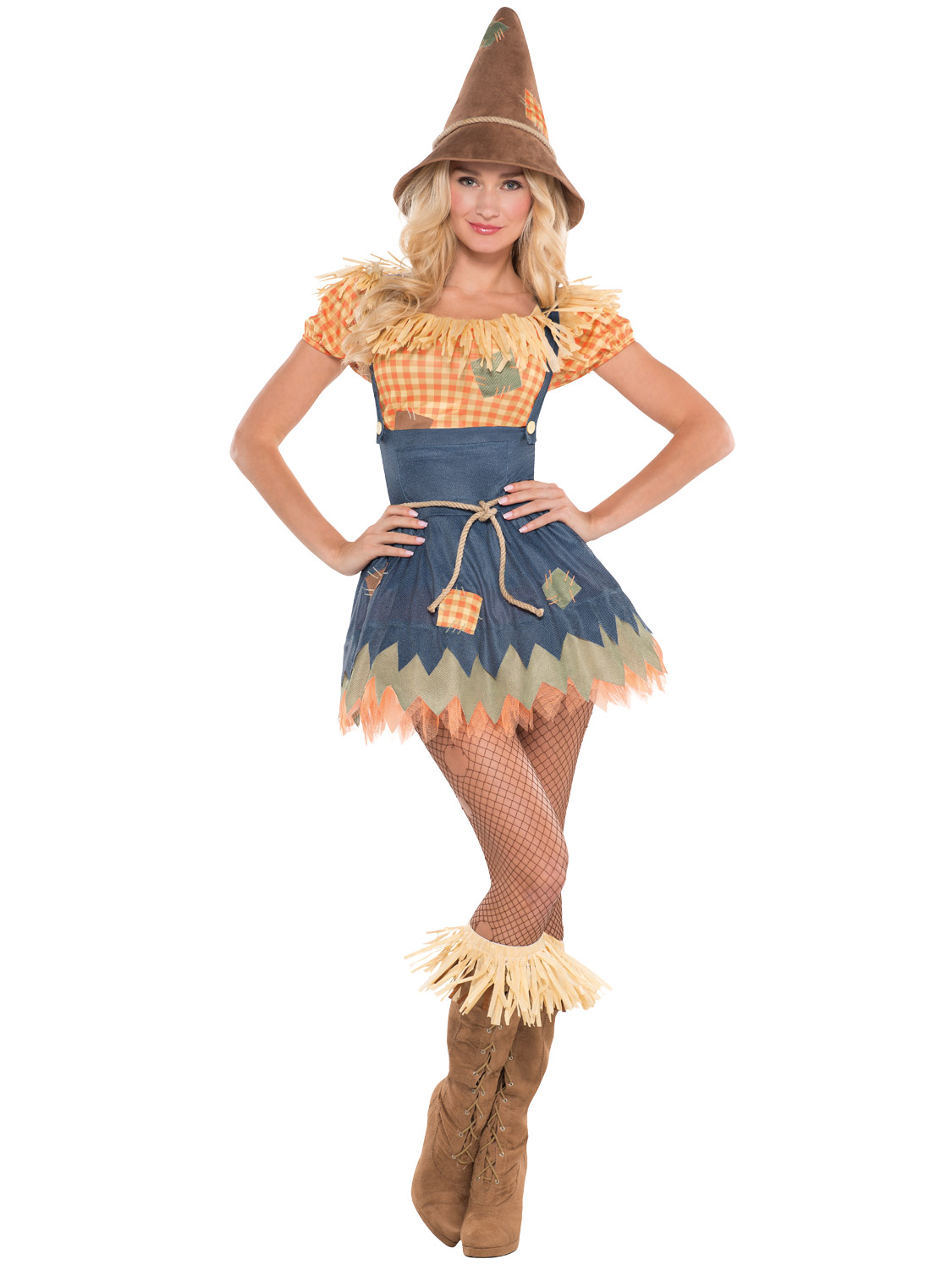 Mens Ladies Scarecrow Costume Book Week Day Character Fancy Dress ...