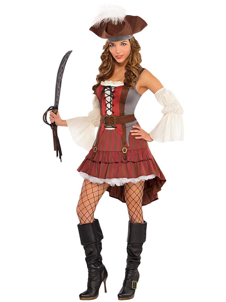 Ladies Castaway Pirate Costume
