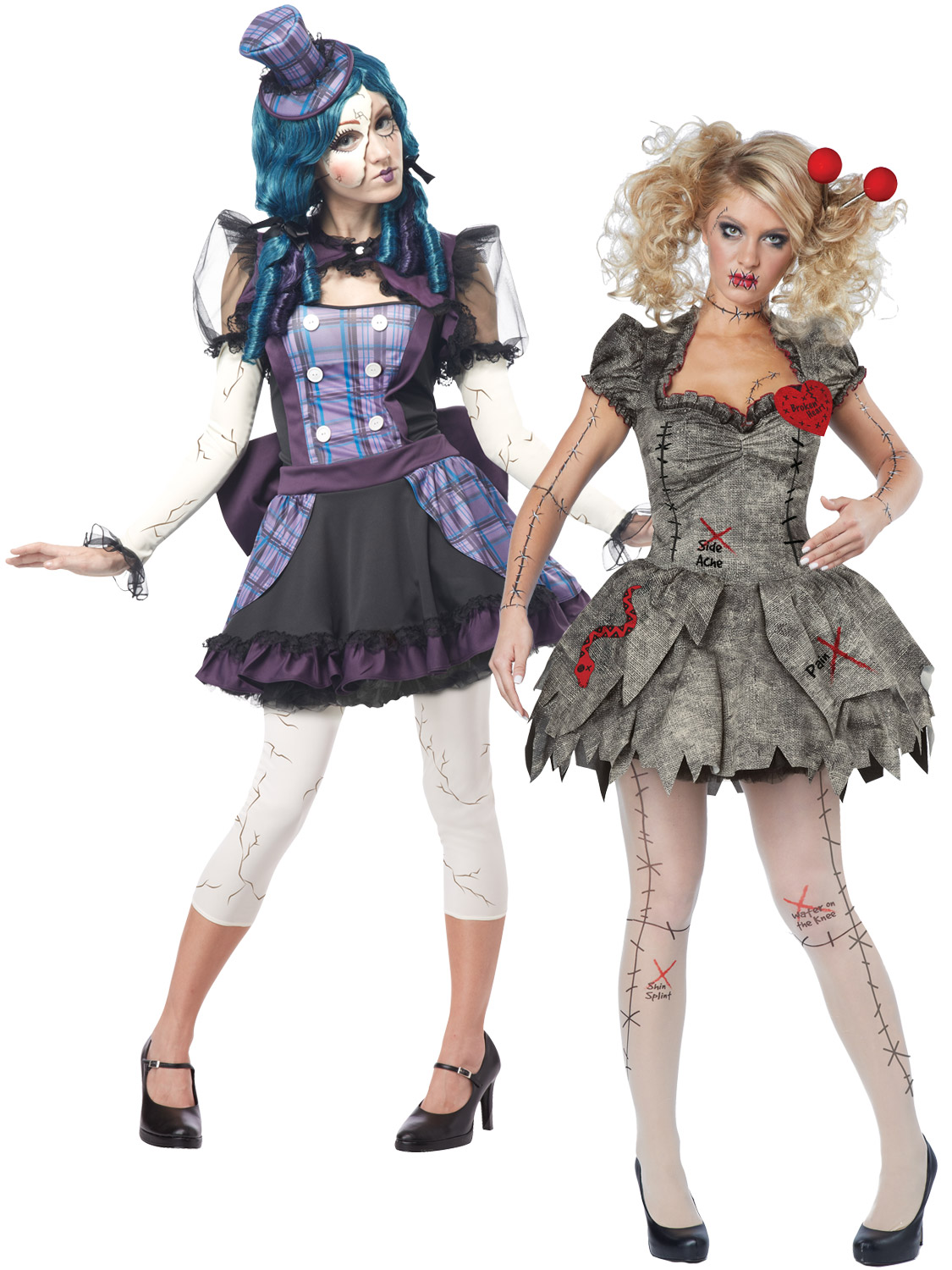 Adult Ladies Sexy Twisted Voodoo Doll Womens Halloween Fancy Dress Costume EBay