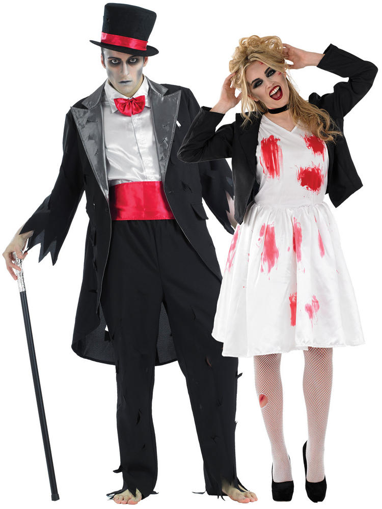 Adults Corpse Bride & Groom Costumes