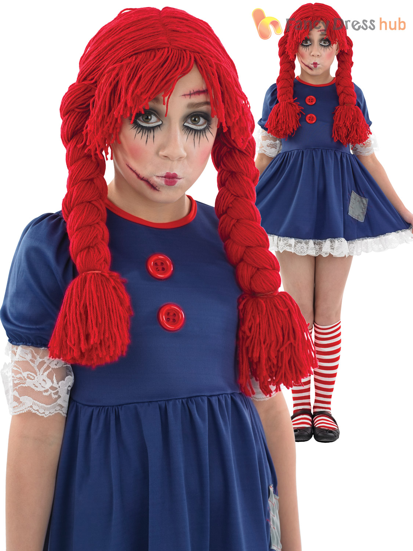 age 4 12 girls dead broken rag doll costume halloween fancy dress kids book week ebay. Black Bedroom Furniture Sets. Home Design Ideas