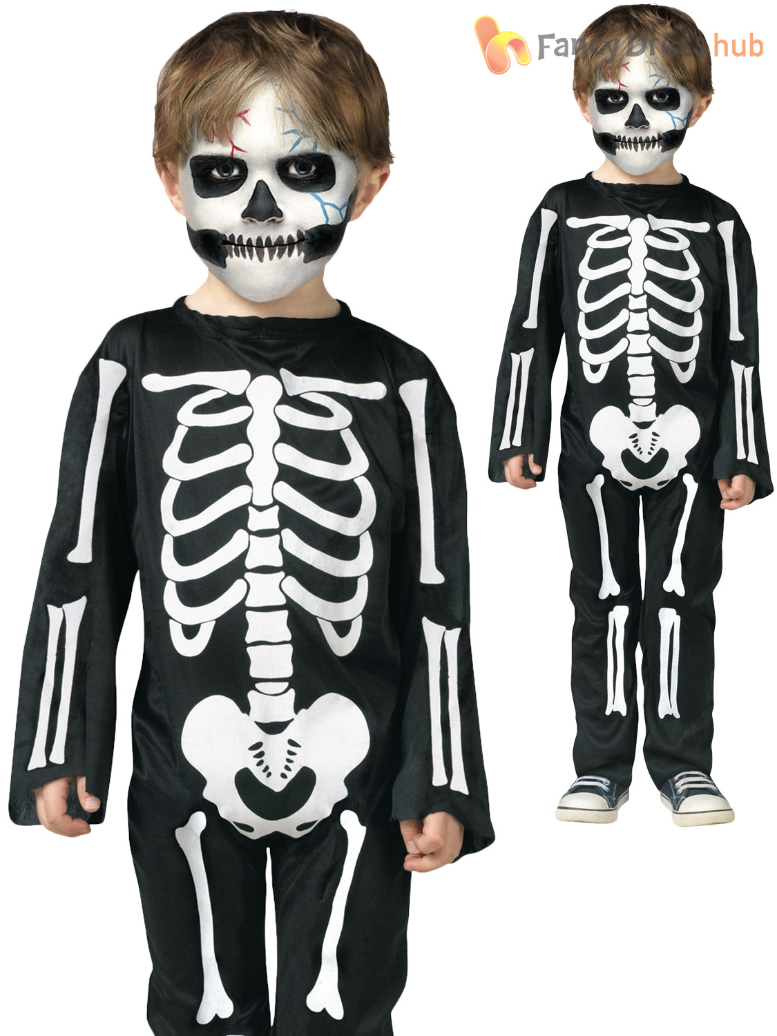 Age-2-3-Toddler-Halloween-Costume-V&ire-Skeleton-  sc 1 st  eBay : halloween costumes kids boys  - Germanpascual.Com