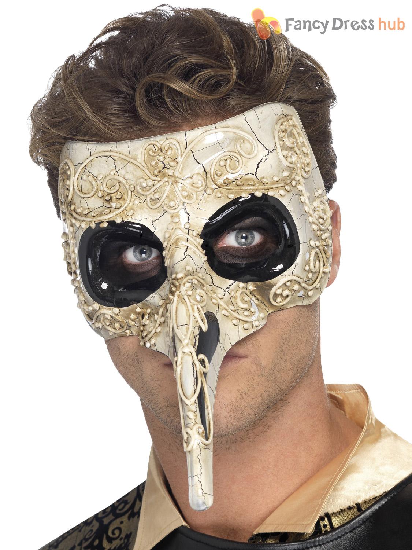 Mens Gothic Venetian Eye Face Mask Evil Halloween Masquerade Ball ...
