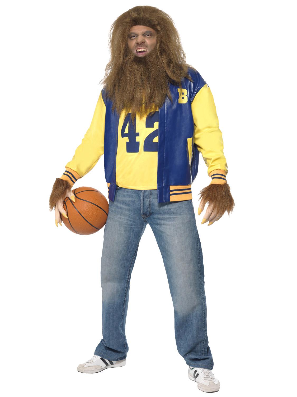 teen wolf costume wig 80s horror film mens halloween fancy dress werewolf ebay. Black Bedroom Furniture Sets. Home Design Ideas