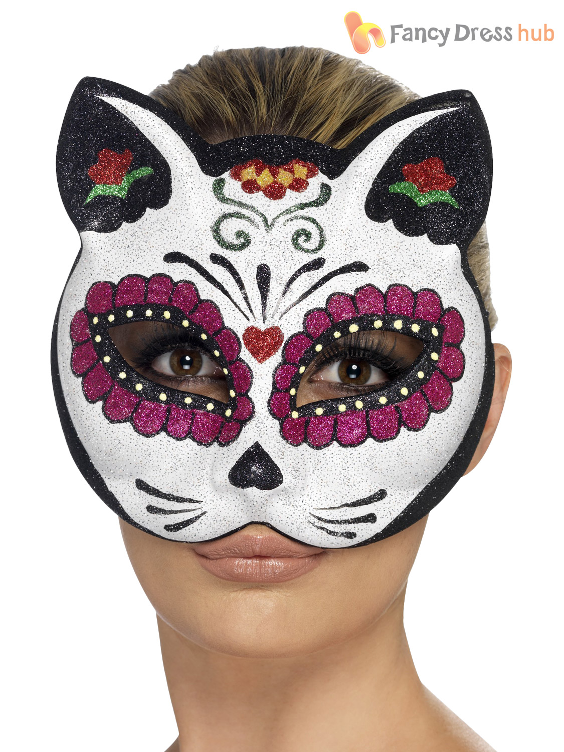 Mexican Day Of The Dead Masks Halloween Fancy Dress Costume Accessory Adult - eBay