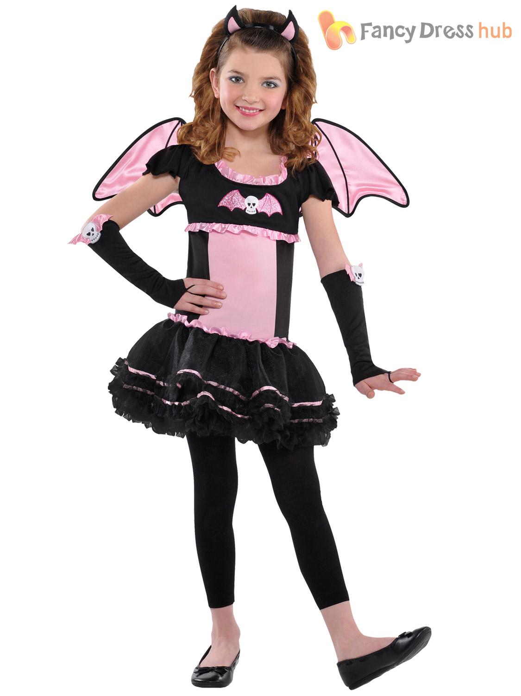 Age 3-10 Girls Ballerina Bat Costume Halloween Fancy Dress Party Kids Childrens  eBay