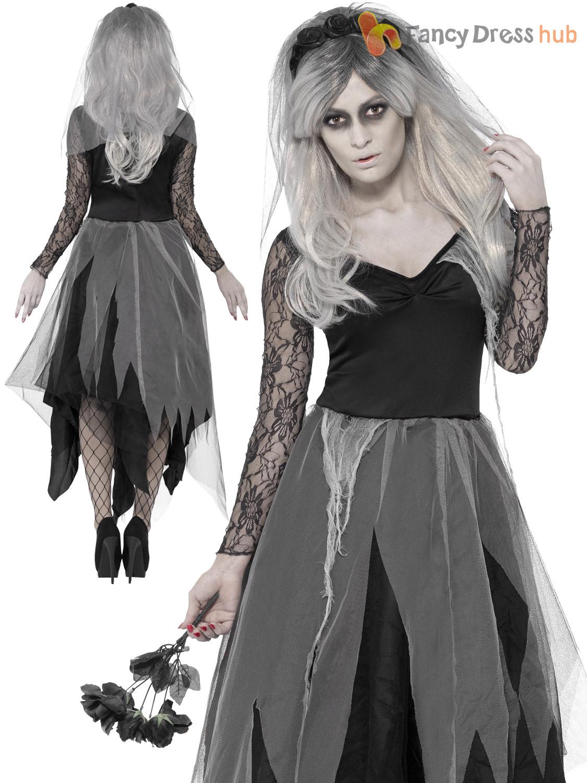 Luxury Girls Zombie Princess Costume Horror Fairytale Halloween Fancy Dress