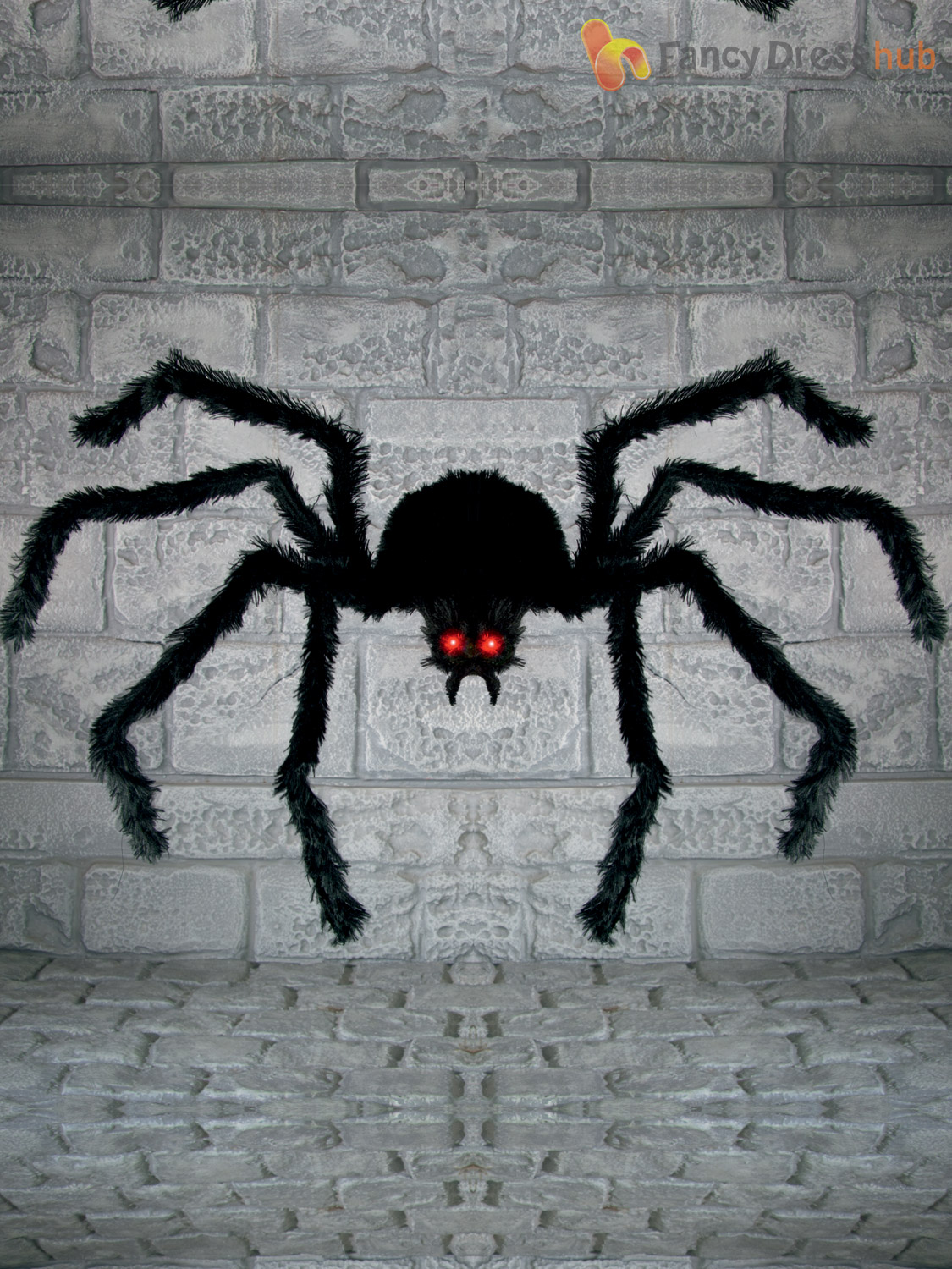 1 2m giant hanging spider halloween party decoration for Animated halloween decoration