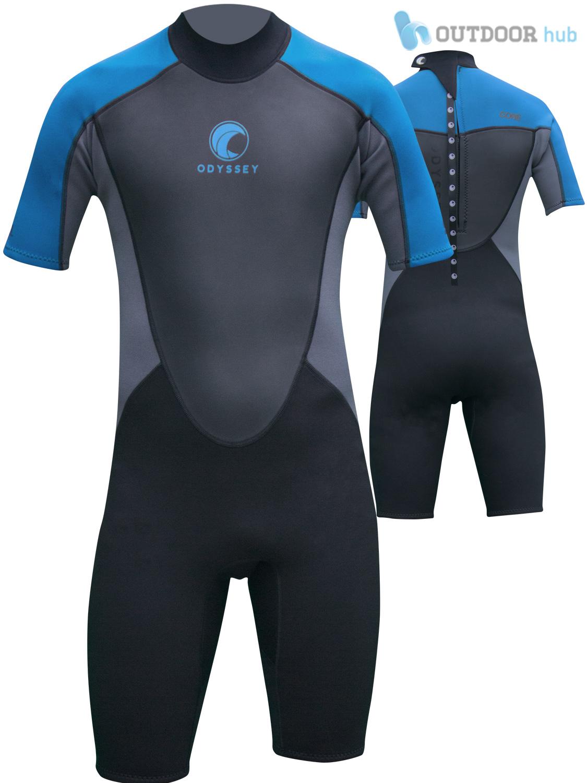 Odyssey core 3 2mm mens shorty wetsuit surf swim kayak shortie wet suit s xxl ebay for Children s swimming pool wetsuit