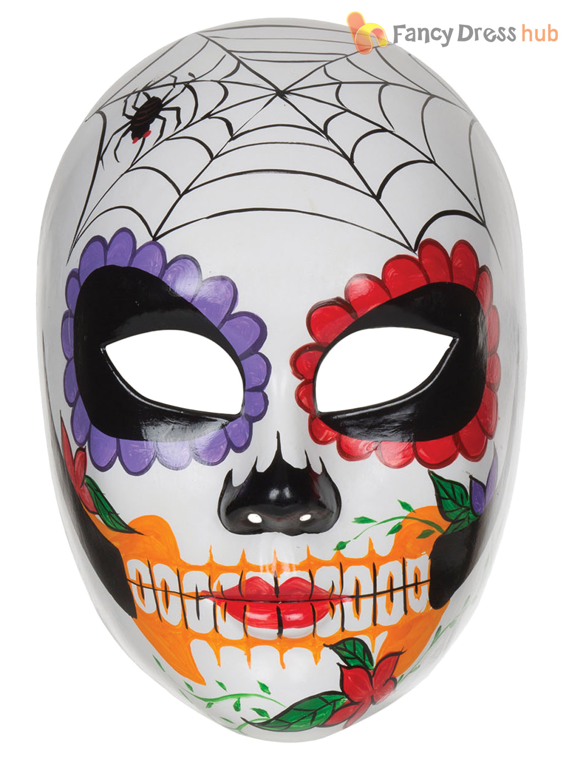 Ladies Day Of The Dead Mexican Sugar Skull Mask Halloween