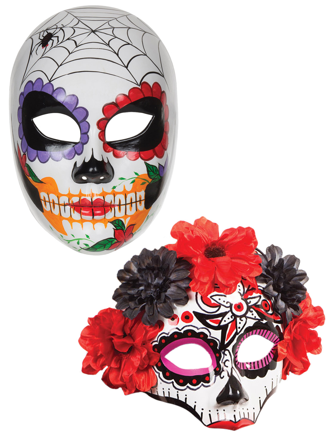 Ladies Day Of The Dead Mexican Sugar Skull Mask Halloween ...