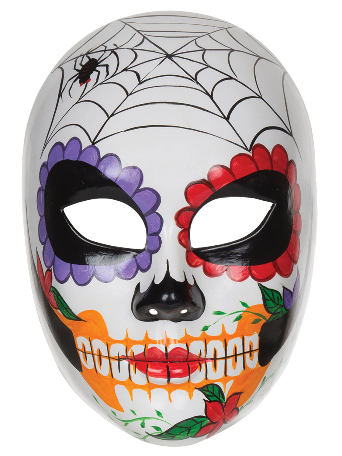 Ladies Day Of The Dead Mexican Sugar Skull Mask Halloween Fancy ...