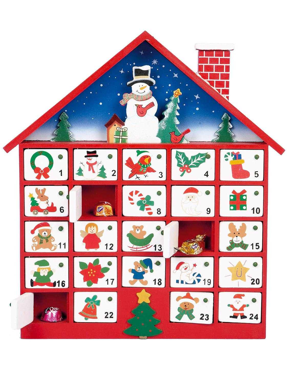 Kids Christmas Calendar : Wooden advent calendar train christmas xmas wood doors