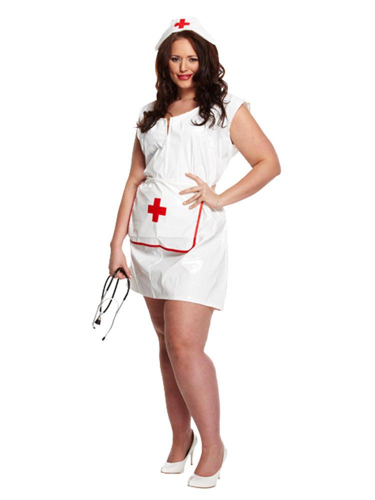 Ladies Plus Size Sexy Nurse Costume