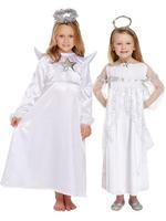 Girl's White Angel Costume