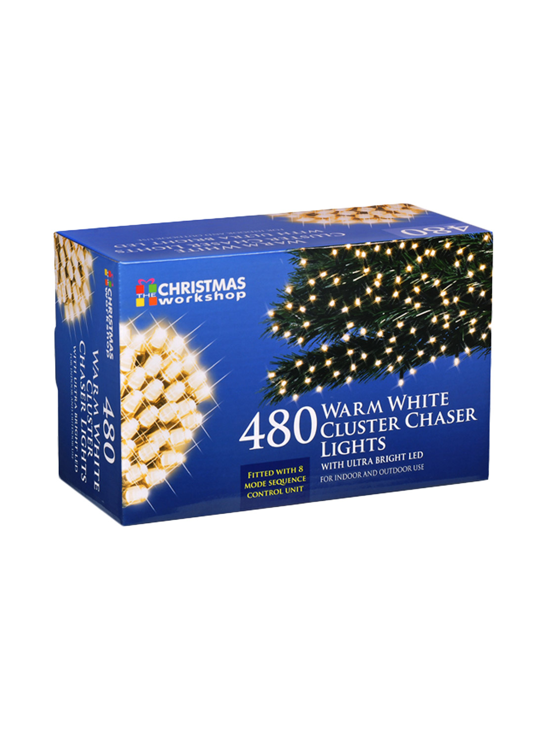 LED Chaser Cluster Christmas Light String Indoor Outdoor Multi-Colour Warm White eBay