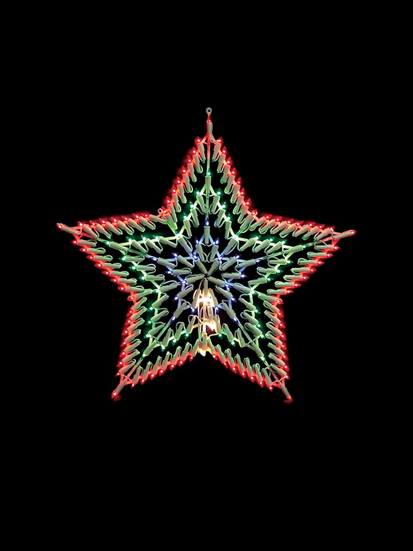 Christmas light shapes window snowflake star merry for 6 star window christmas decoration lights