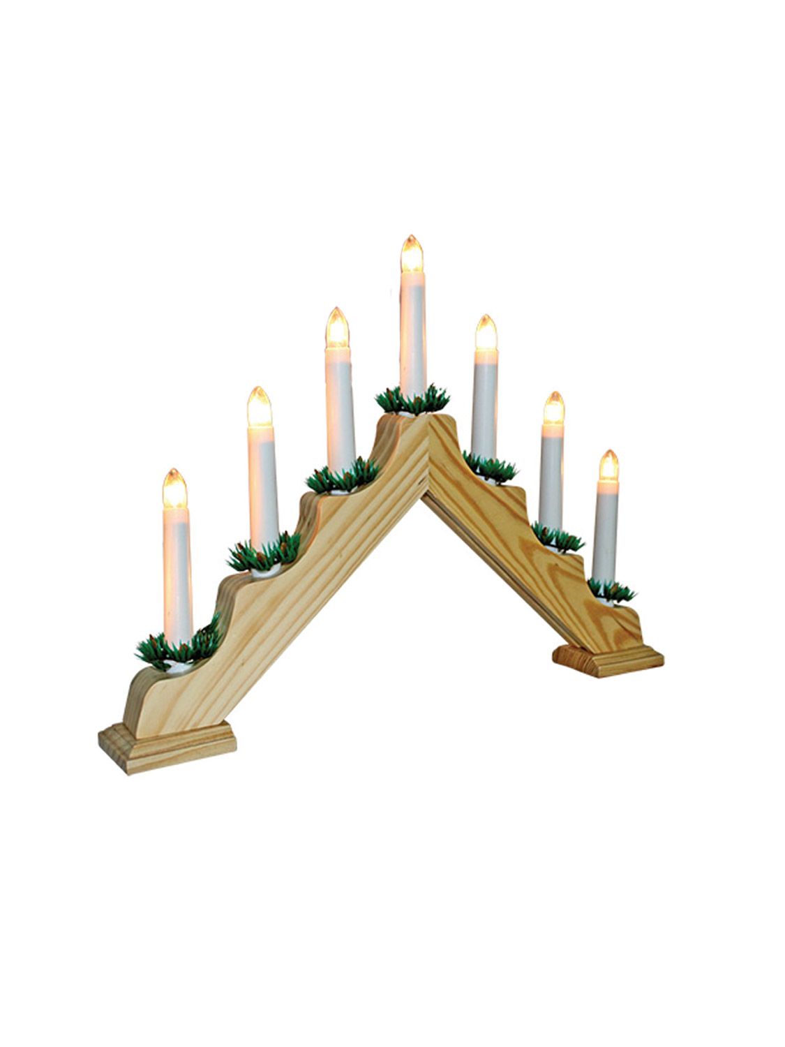 Wooden candle bridge pine christmas decoration arch window for Christmas arch diy