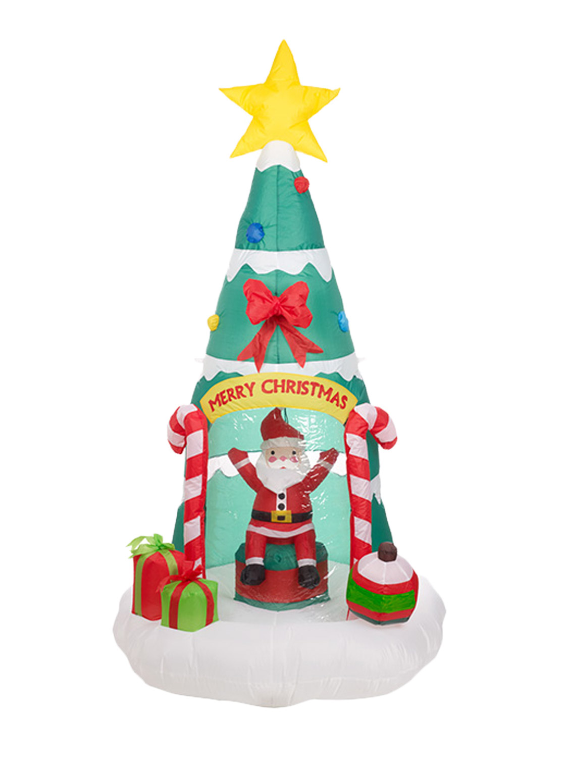 Giant outdoor inflatable christmas decoration with disco for Inflatable christmas decorations