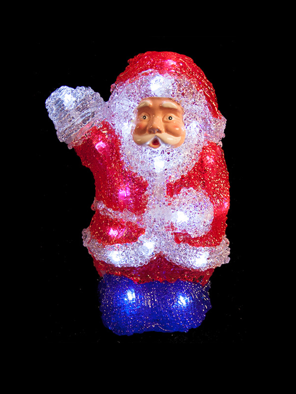 Brighten up your Christmas with these Acrylic Figures as a fantastic option  for your decorations this year! - Light Up Acrylic Santa Snowman Reindeer Christmas Outdoor Indoor