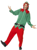 Men's Elf Onesie Costume