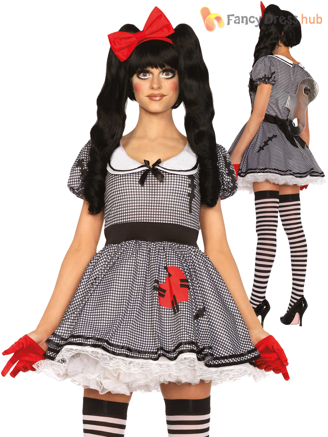 Ladies-Leg-Avenue-Sexy-Broken-Doll-Voodoo-Costume-  sc 1 st  eBay & Ladies Leg Avenue Sexy Broken Doll Voodoo Costume Womens Halloween ...