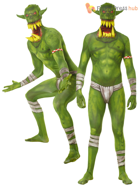 Adult-Morphsuit-Monster-Mens-Halloween-Robot-Zombie-Fancy-  sc 1 st  eBay & Adult Morphsuit Monster Mens Halloween Robot Zombie Fancy Dress ...
