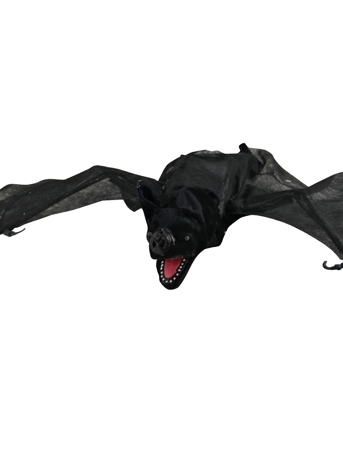 Scary lifesize evil bat light up moving halloween prop for Animated flying bat decoration