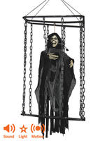 Caged Animated Black Reaper