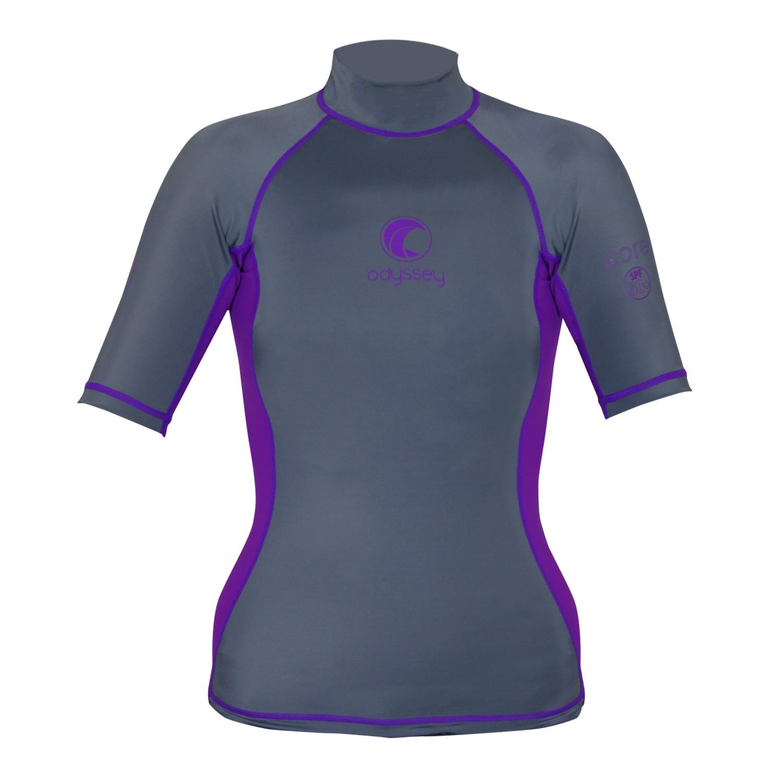 Odyssey Ladies Short Sleeve Rash Vest Womens Surf T-Shirt UV50 Protection Guard