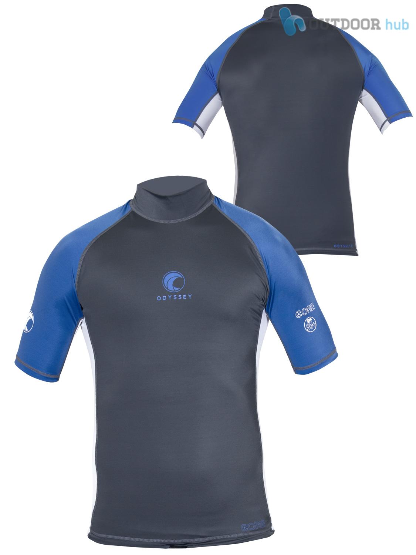 Odyssey mens short sleeve rash vest surf guard t shirt uv for What is a rash shirt